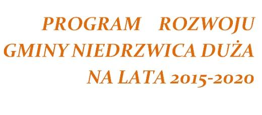 Konsultacje społeczne dotyczące Programu Rozwoju Gminy Niedrzwica Duża na lata 2015 – 2020