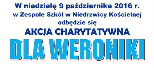Akcja charytatywna dla Weroniki w Zespole Szkół w Niedrzwicy Kościelnej