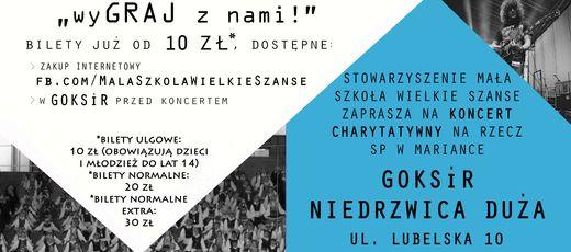 """Koncert charytatywny """"wyGRAJ z nami"""" - 3 grudnia, g. 17:00"""