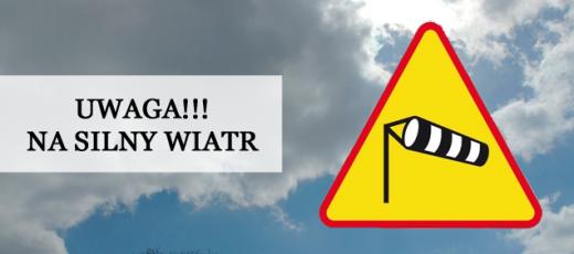 Ostrzeżenie o silnym wietrze - 5.10.2017