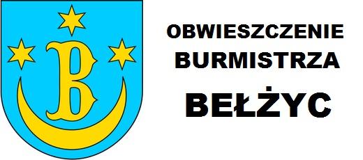 Obwieszczenie Burmistrza Bełżyc z 13 sierpnia 2018 r.