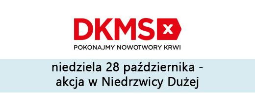 Akcja Fundacji DKMS - niedziela 28 października 2018