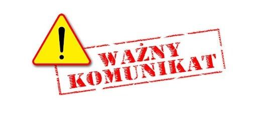 Komunikat Wójta Gminy Niedrzwica Duża w sprawie organizacji pracy Urzędu Gminy Niedrzwica Duża.