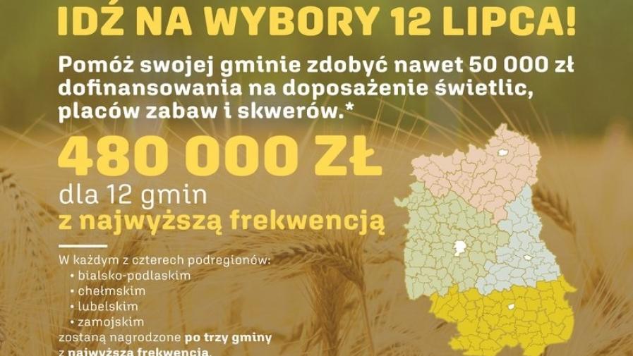 """Zachęcamy wszystkich mieszkańców do wzięcia udziału w konkursie profrekwencyjnym ,,Aktywna lubelska wieś""""."""
