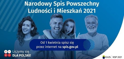 """""""Liczymy się dla Polski"""". Od 1 kwietnia trwa Narodowy Spis Powszechny Ludności i Mieszkań."""